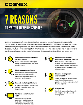 7 Reasons to Switch to Vision Sensors