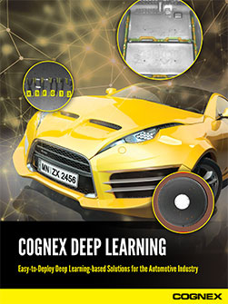 Cognex Deep Learning Automotive Applications
