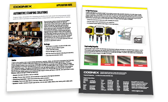 Automotive Stamping App Note Spread