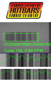 Cognex Hotbars logo and identified bar codes