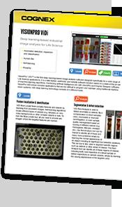 Cognex VisionPro ViDi Life Sciences Macro Datasheet