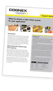 When to choose color vision system guide Cognex