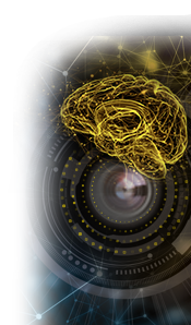 Deep Learning brain over lens