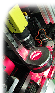 small cognex camera red light inspection