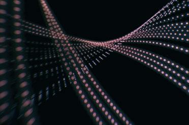 flowing purple pixel art black background