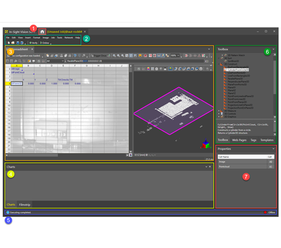 In-Sight 3D spreadsheet software