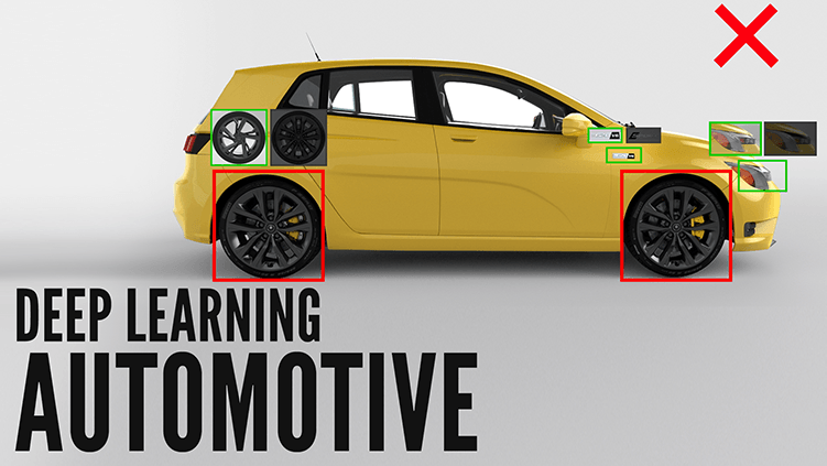 Deep Learning for the Automotive finds wrong tires on yellow car