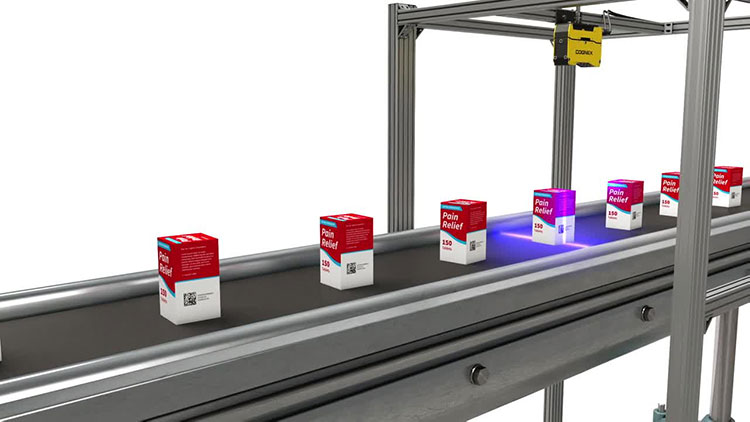 3D vision system inspects pain reliever packaging for defects