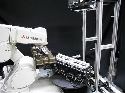 Mitsubishi robotic arm machine vision application