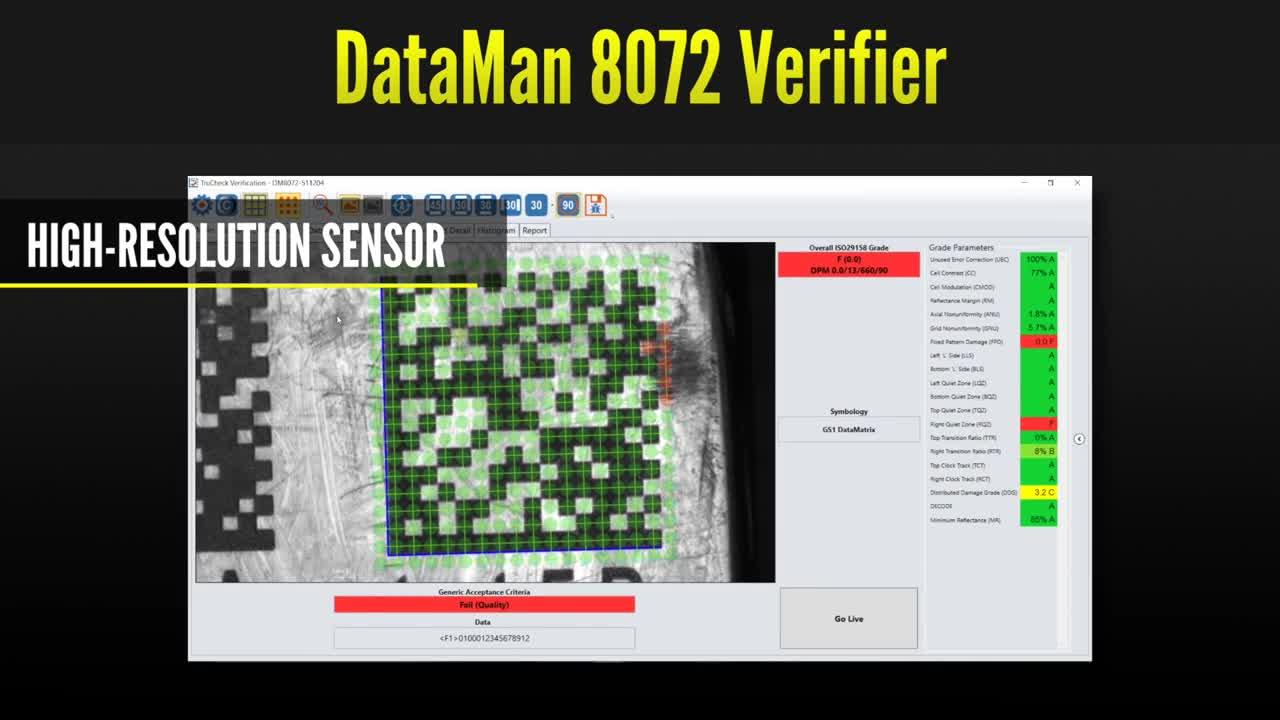 DataMan 8072 Verifier software