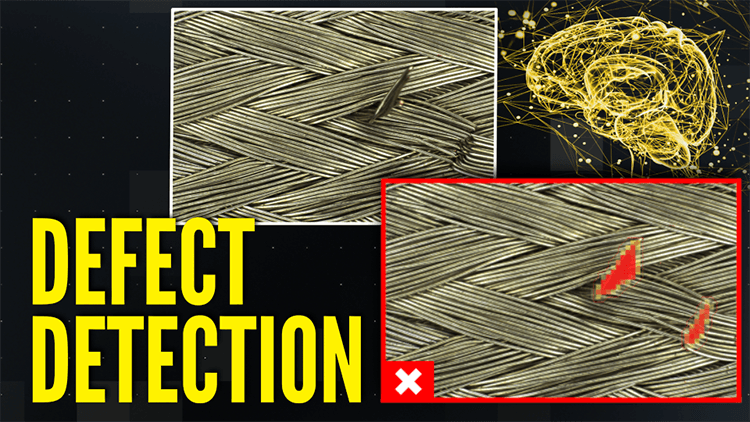 Defect Detection with Deep Learning identifies textile rips