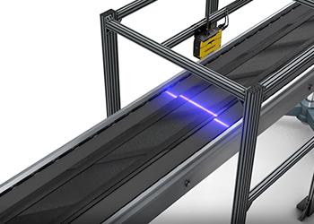 cognex 3d-l4000 scans rubber material on conveyor belt