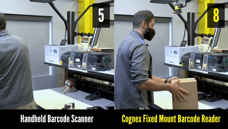 Fixed Mount versus Handheld Barcode Reading Demo
