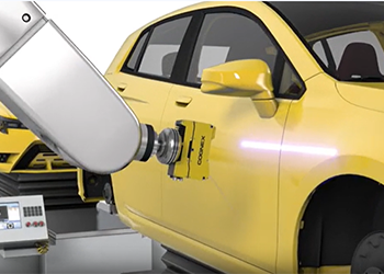 cognex 3d-l4000 inspects door of yellow car