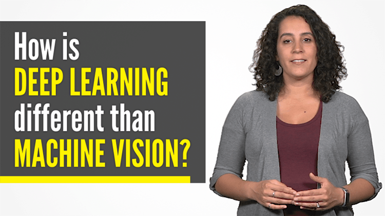 woman explains how deep learning is different than machine vision