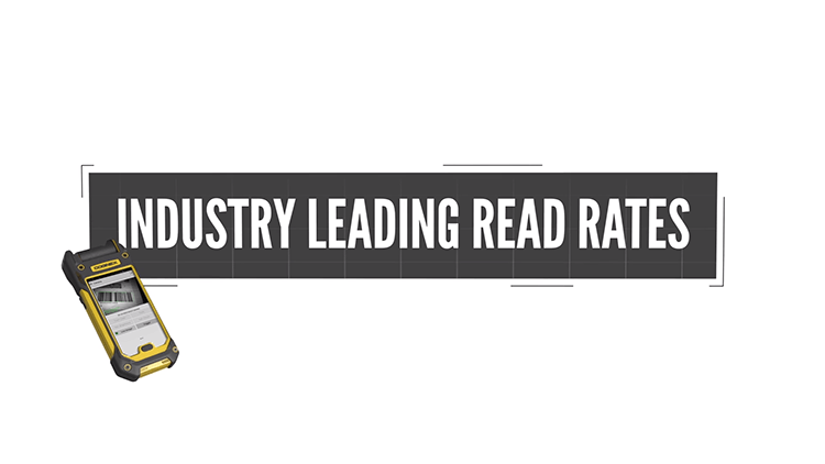 mobile barcode reader with text reading industry leading read rates