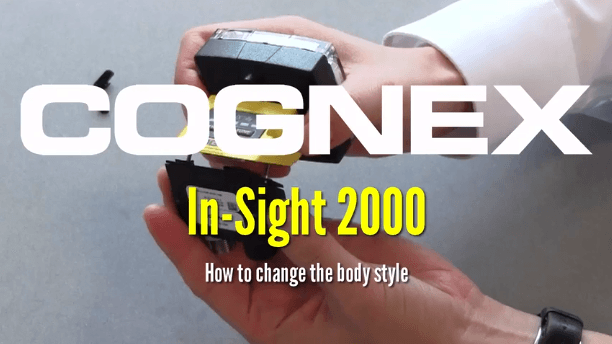 person demonstrates changing body style of in-sight 2000