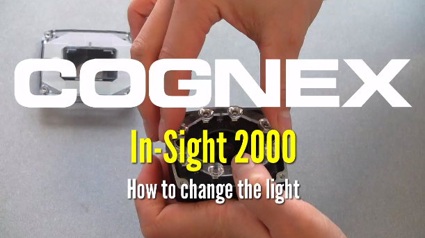 person demonstrates changing light on in-sight 2000