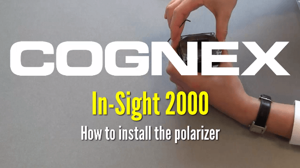 hands install polarizer on In-Sight 2000