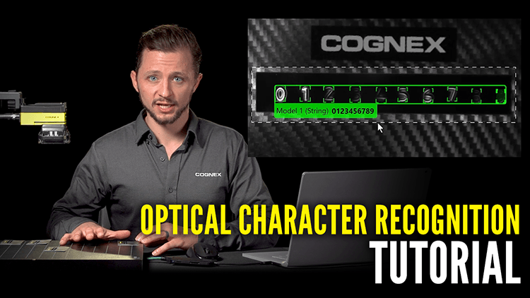 man with cognex camera explaining optical character recognition