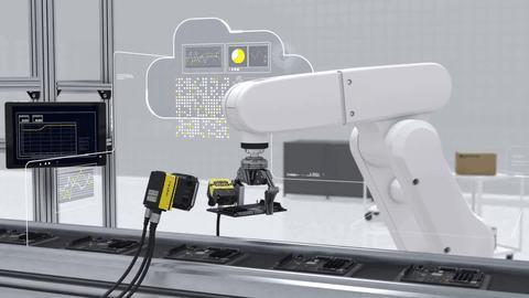 3d cognex cameras communicate with robot arm