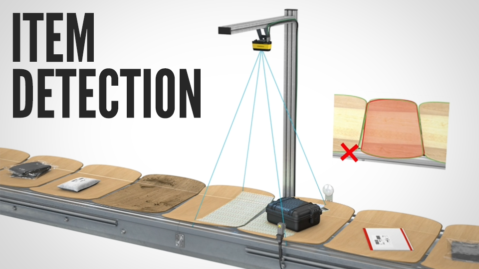 3D-A1000 performs item detection inspection on sorter