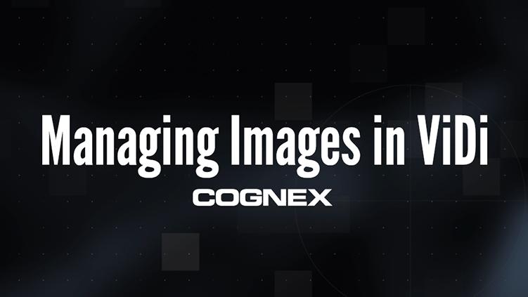 Managing Images in In-Sight ViDi
