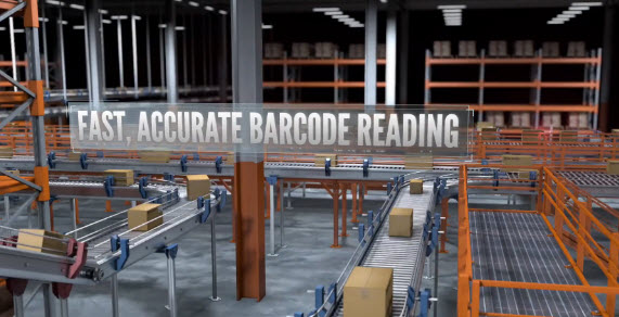 logistics warehouse fast and accurate barcode reading