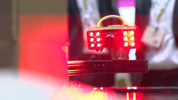 lit-up cognex camera